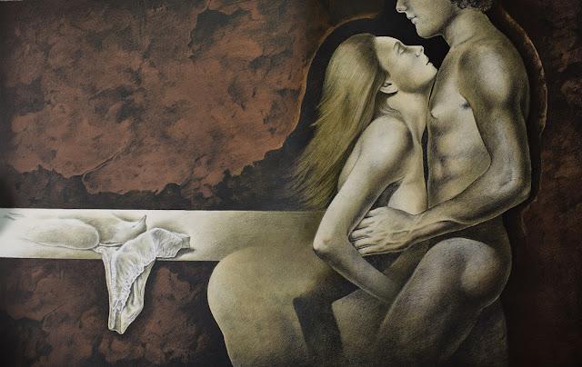 Alberto Pancorbo litografía desnudo