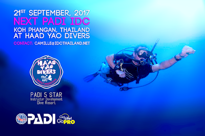 Next PADI IDC on Koh Phangan, Thailand starts 21st September