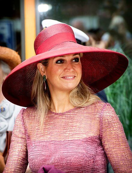 Queen Maxima's dress is by Belgian fashion house Natan