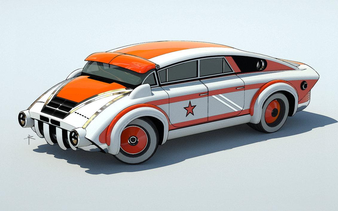 Retro Future Car Designs By 600v