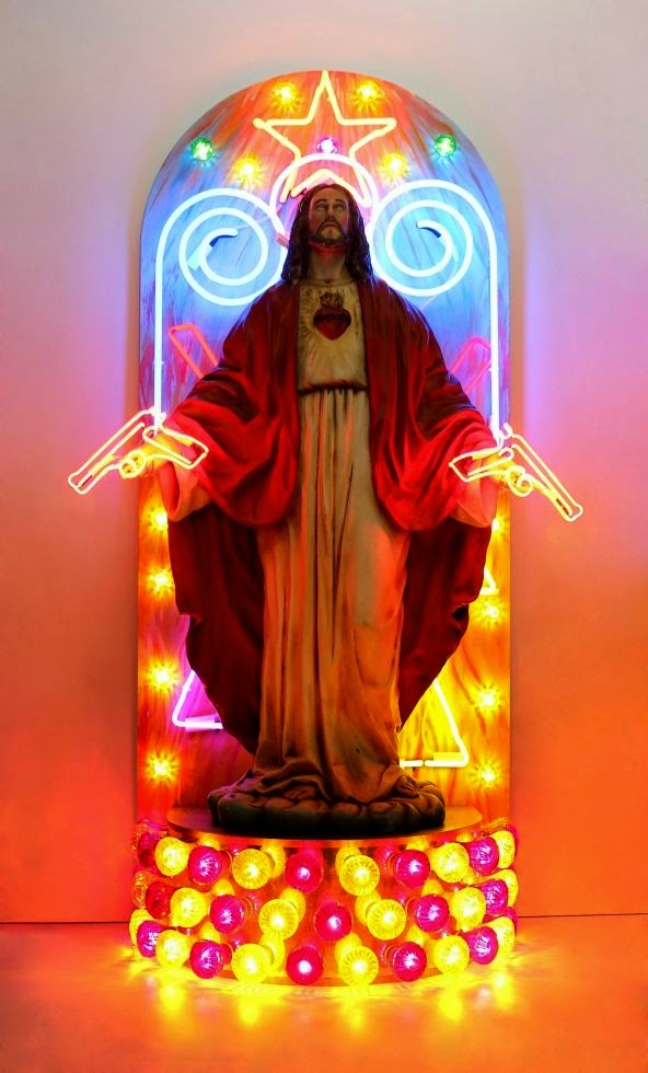 Funny Weird Jesus Collection - Gun altar picture