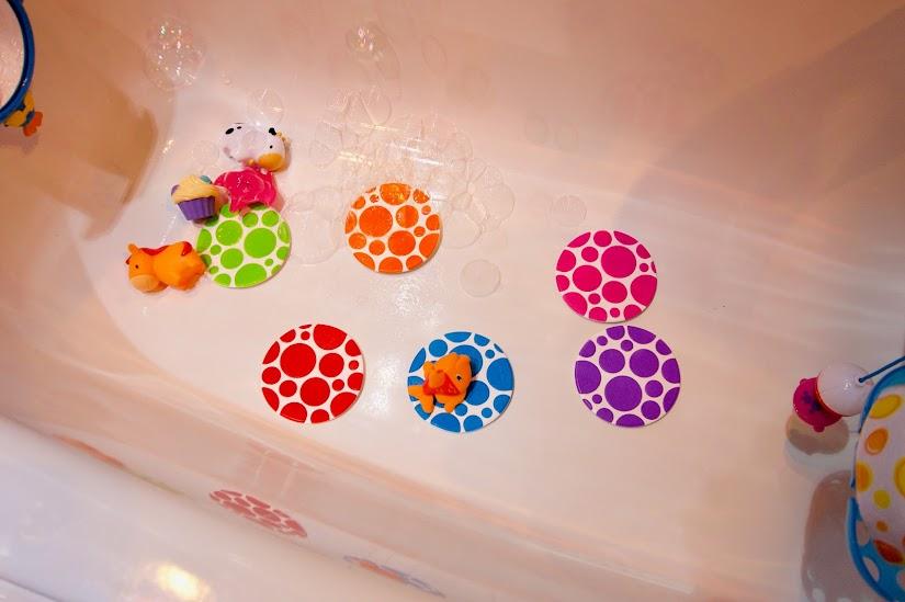 Antideslizantes termosensibles para la bañera de Munchkin
