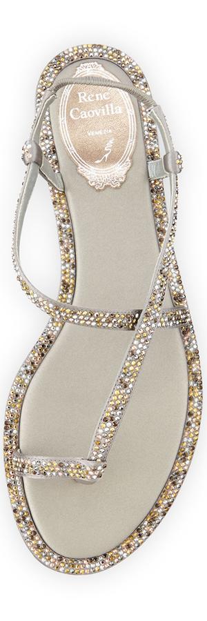 RENE CAOVILLA Embellished Flat Sandal