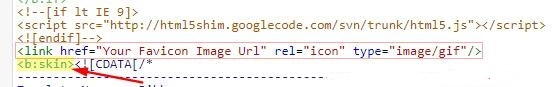 html me favicon code ko chipka de
