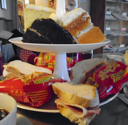 Children's afternoon tea at The Running Fox, Felton