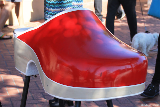 The giand (red) clog, Solvang, CA