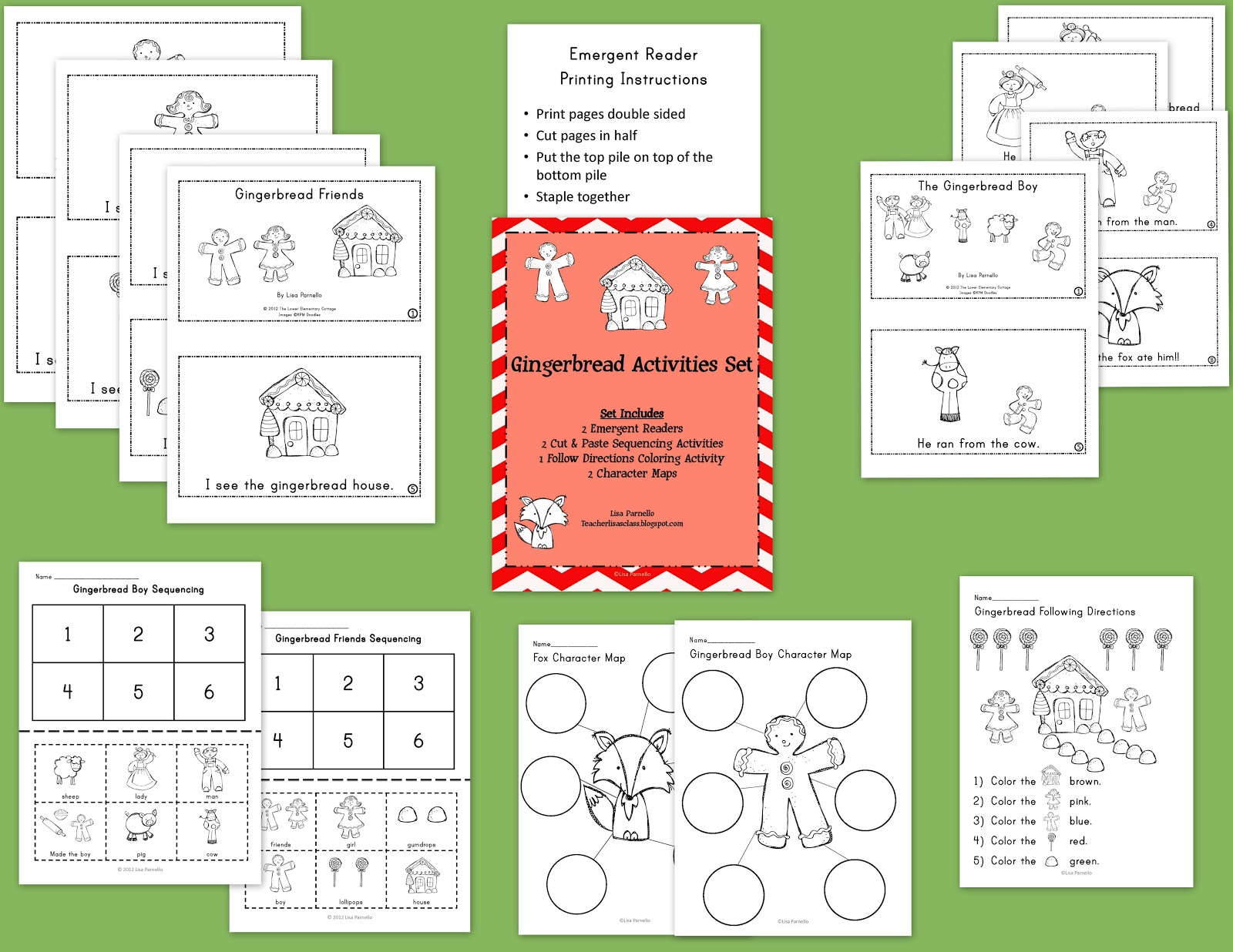 The Lower Elementary Cottage Gingerbread Man Mini Unit