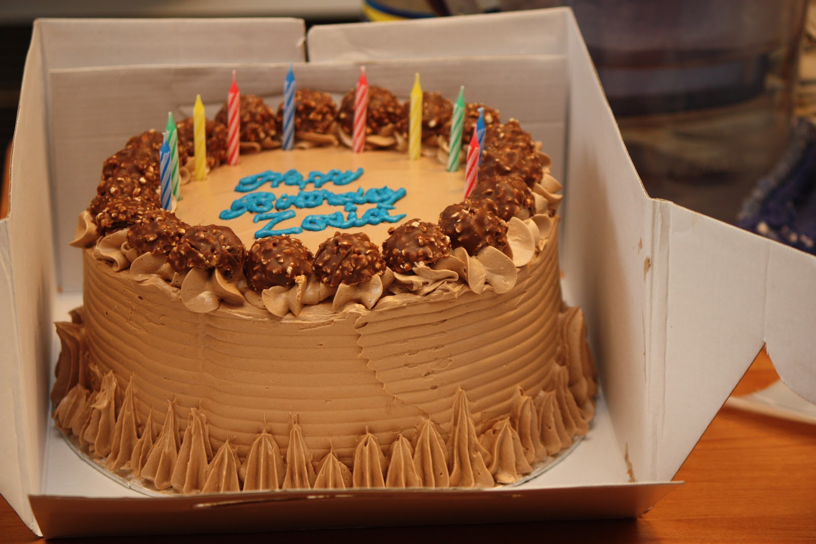 Zosias Birthday Cake Chocolate And Nutella Polish Housewife