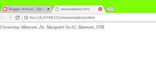 elemen <adress>