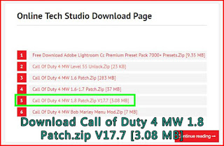 Download COD 4 MW 1.8 patch