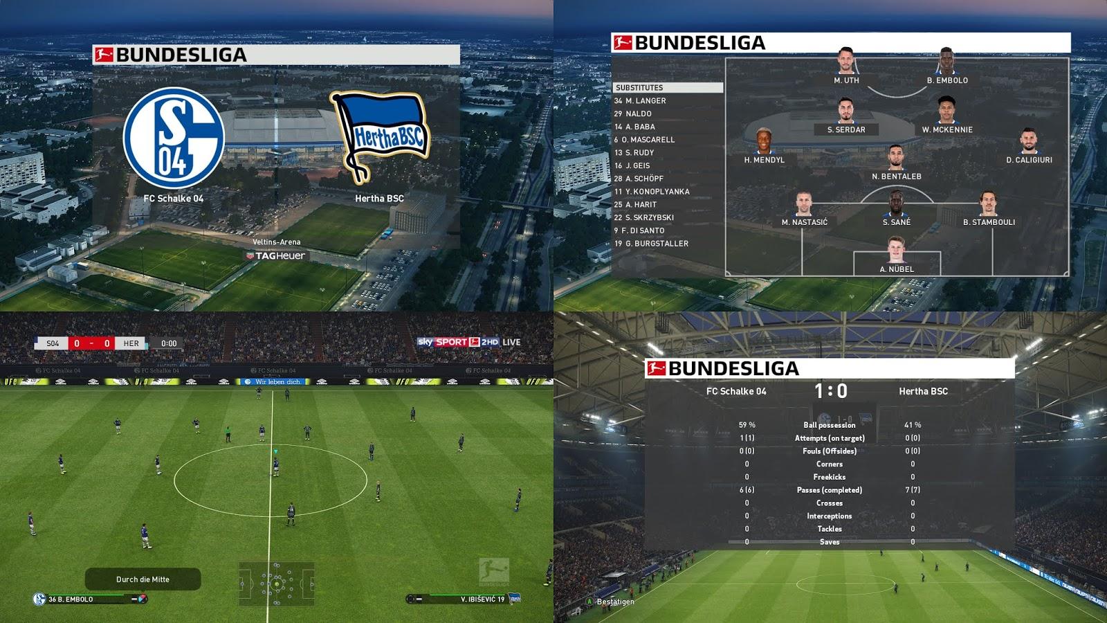 PES 2019 German Scoreboards (Bundesliga + DFB-Pokal + DFL-Supercup) by 1002MB