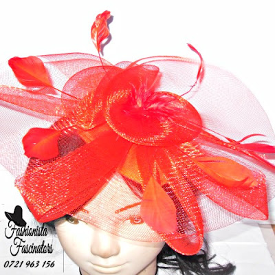 Buy red party fascinator hats Nairobi Kenya