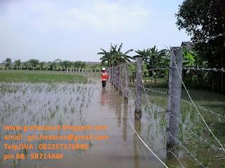 pagar duri kolom precast tahan banjir