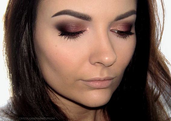 Makeup Look Melt Cosmetics Dark Matter Eyeshadows Ardency Inn Rose Hold MUFE Pro Sculpting Palette 30