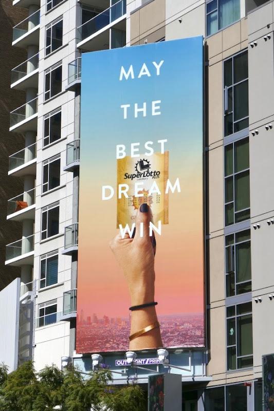 May the best dream win SuperLotto billboard
