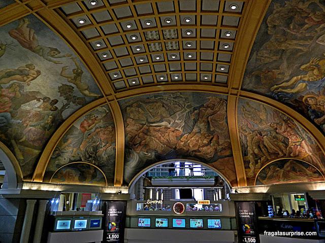 Decoração da cúpula das Galerias Pacífico, Buenos Aires