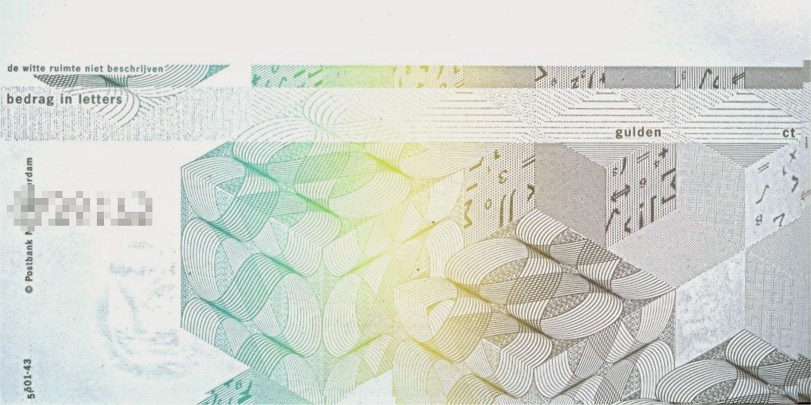girobetaalkaart achterzijde voor invullen bedrag