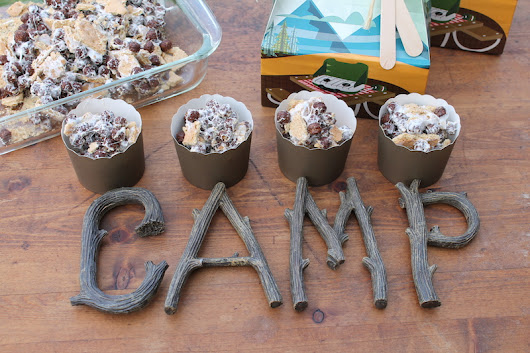 LAURA'S little PARTY: Easy-Peasy S'mores Cereal Cups| Backyard Campout Recipe