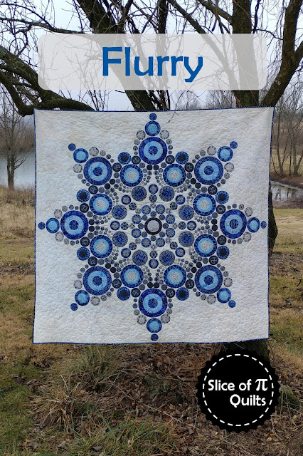 Flurry modern snowflake pattern by Slice of Pi Quilts
