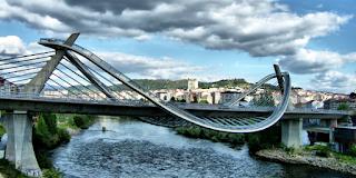 Detalle del puente del milenio de Ourense