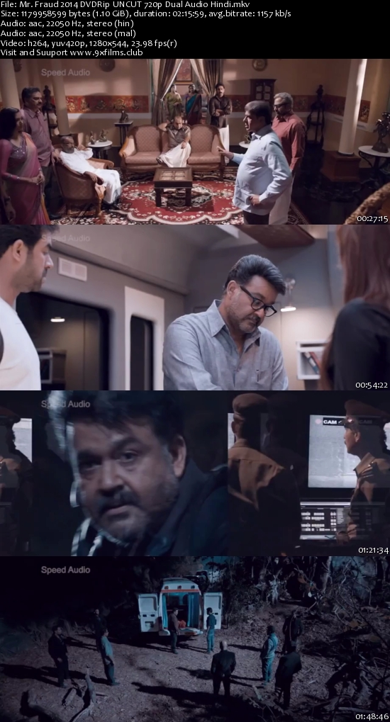 Mr. Fraud 2014 DVDRip UNCUT 720p Dual Audio Hindi