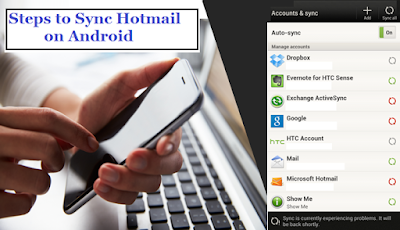 sync you hotmail on android