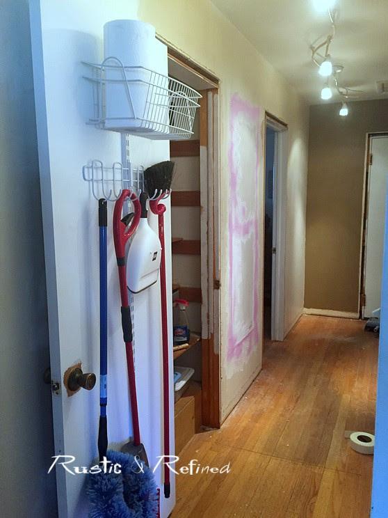 Skinny hallway decorating