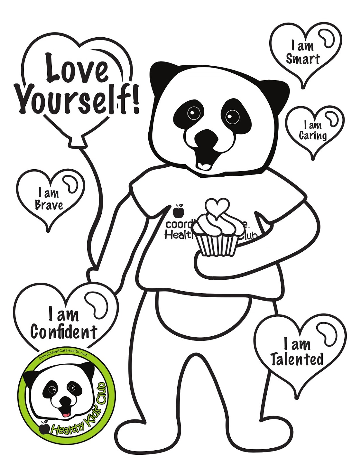 Free Caring Coloring Pages, Download Free Clip Art, Free Clip Art ... | 1600x1236