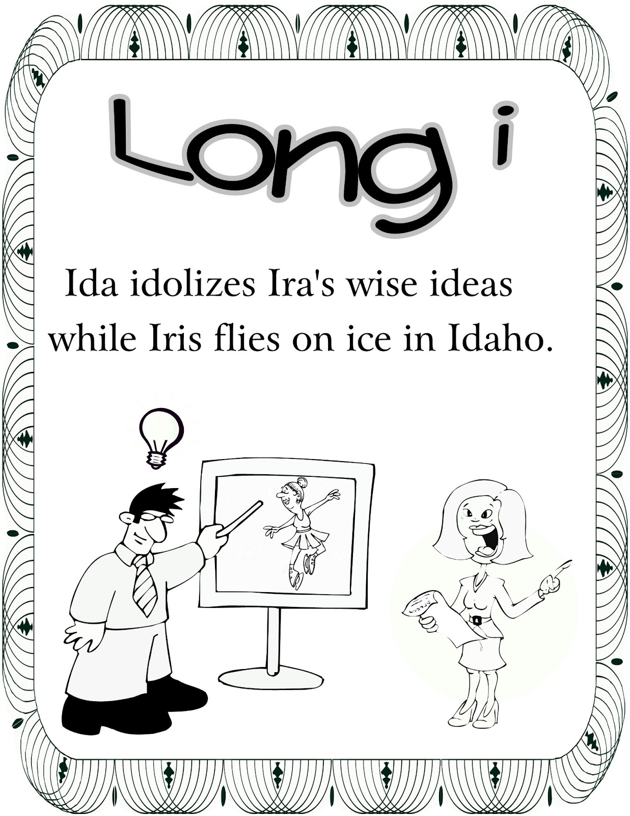 vowel coloring pages - photo#14