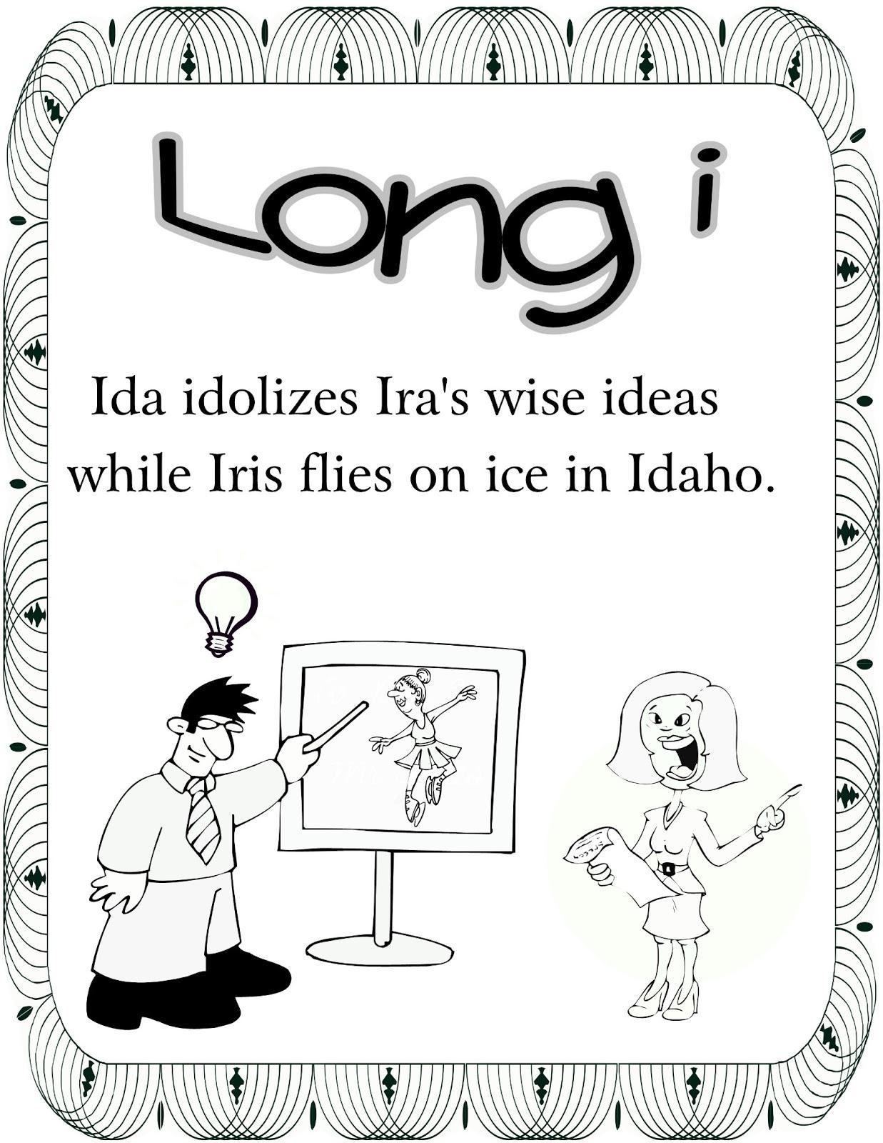 Christina S Kinder Blossoms Long I Long U Coloring Pages Freebies