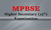 mpbse 12th time table 2018