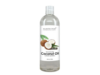 fractionated coconut oil for dry curly hair