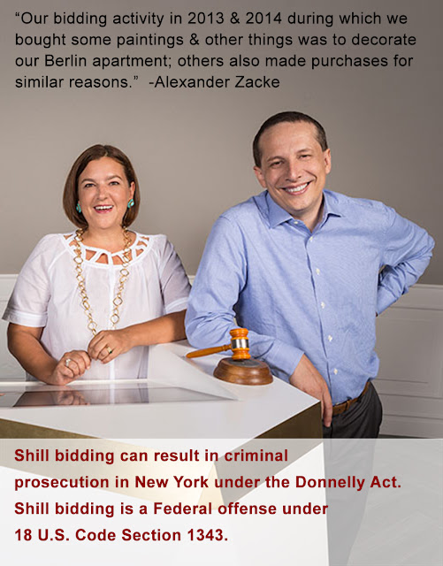 Alexander & Susanne Zacke disingenuously defends the egregious civil and criminal activity