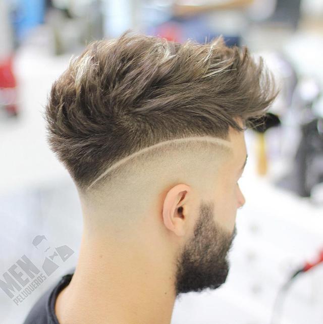 Corte de pelo con rayas atras