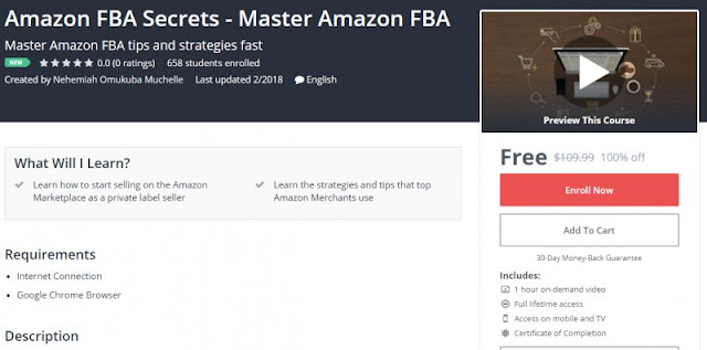 [100% Off] Amazon FBA Secrets - Master Amazon FBA| Worth 109,99$