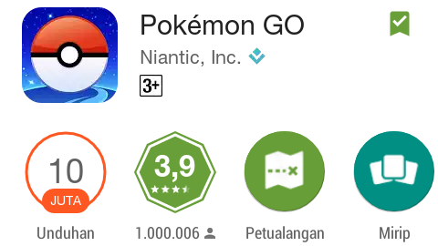 Screen Capture Pokemon Go di Google Play