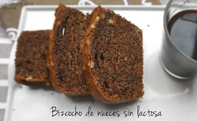 Bizcocho nueces intolerantes lactosa receta