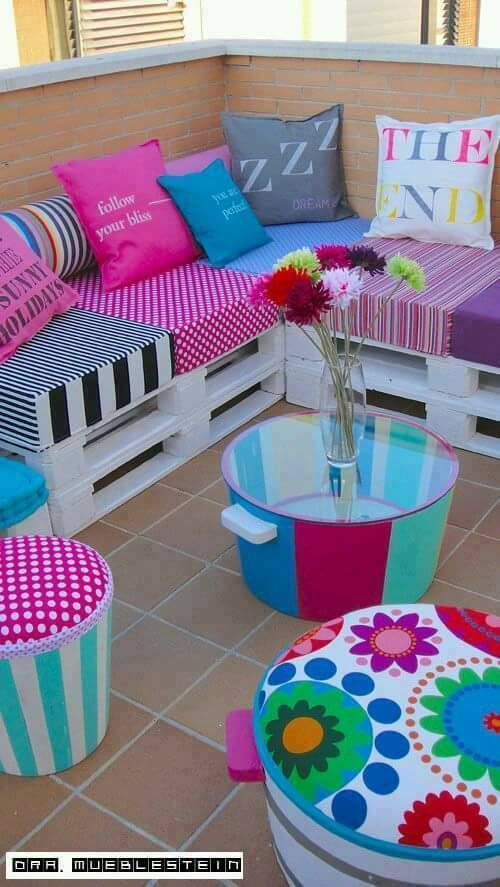 Furniture Made with pallets, economic and original