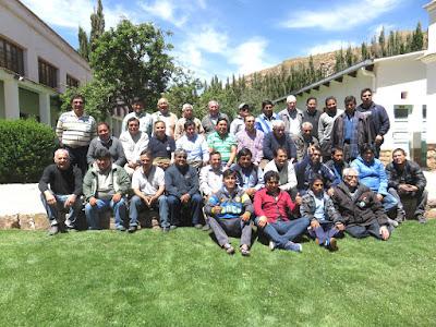 Diözesanklerus von Potosi bei den Jahresexerzitien in El Molino