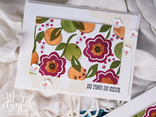 ensemble de cartes avec le lot Bloom by bloom Stampin' Up!