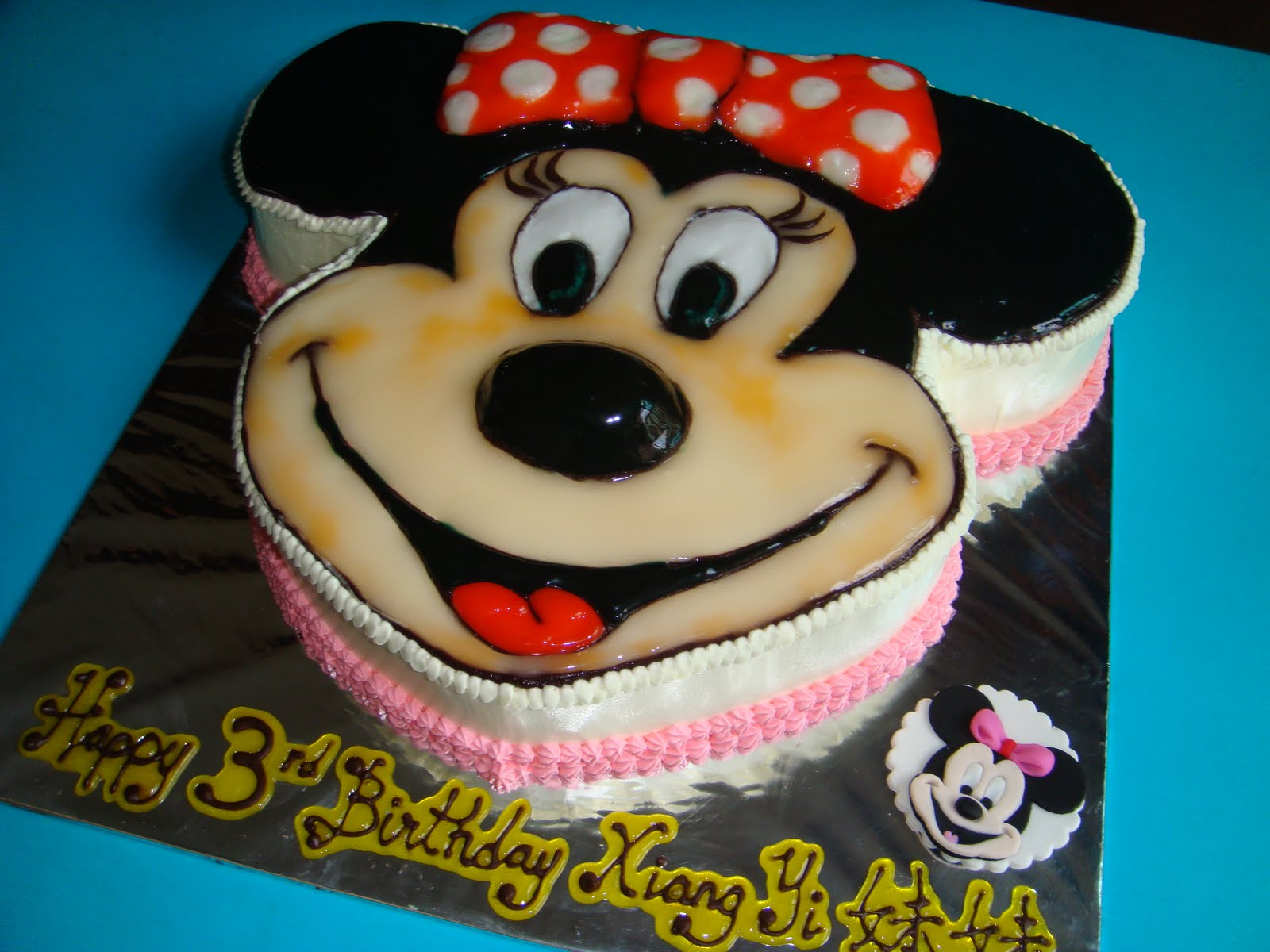 Yummy Baking Minnie Mouse Fresh Cream Cake D2