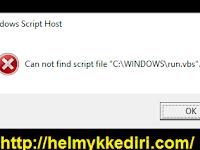 Mengatasi Notifikasi Error File Run.vbs