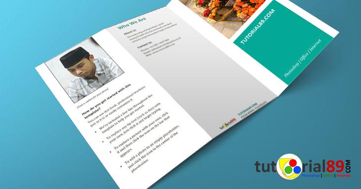 Cara mudah membuat brosur dengan Microsoft word | Tutorial89