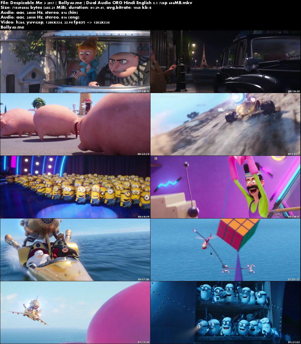 Despicable Me 3 2017 BluRay 700MB Hindi Dual Audio ORG 720p Download