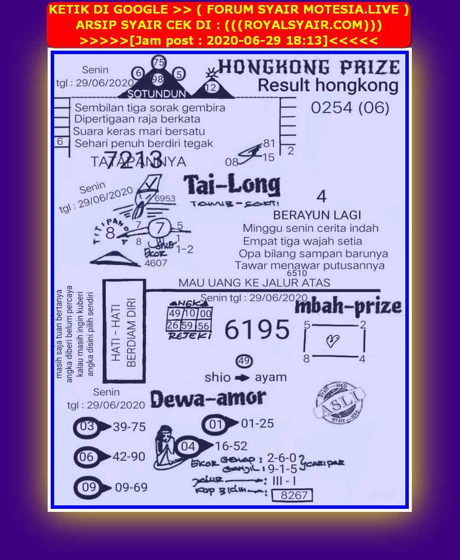 Kode syair Hongkong Senin 29 Juni 2020 42