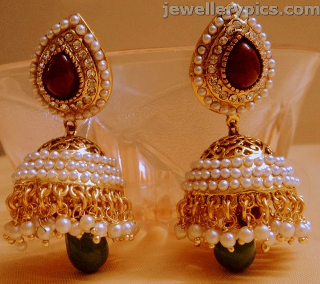 Pearl Buttalu Jhumka Khaleera Latest Designs Latest