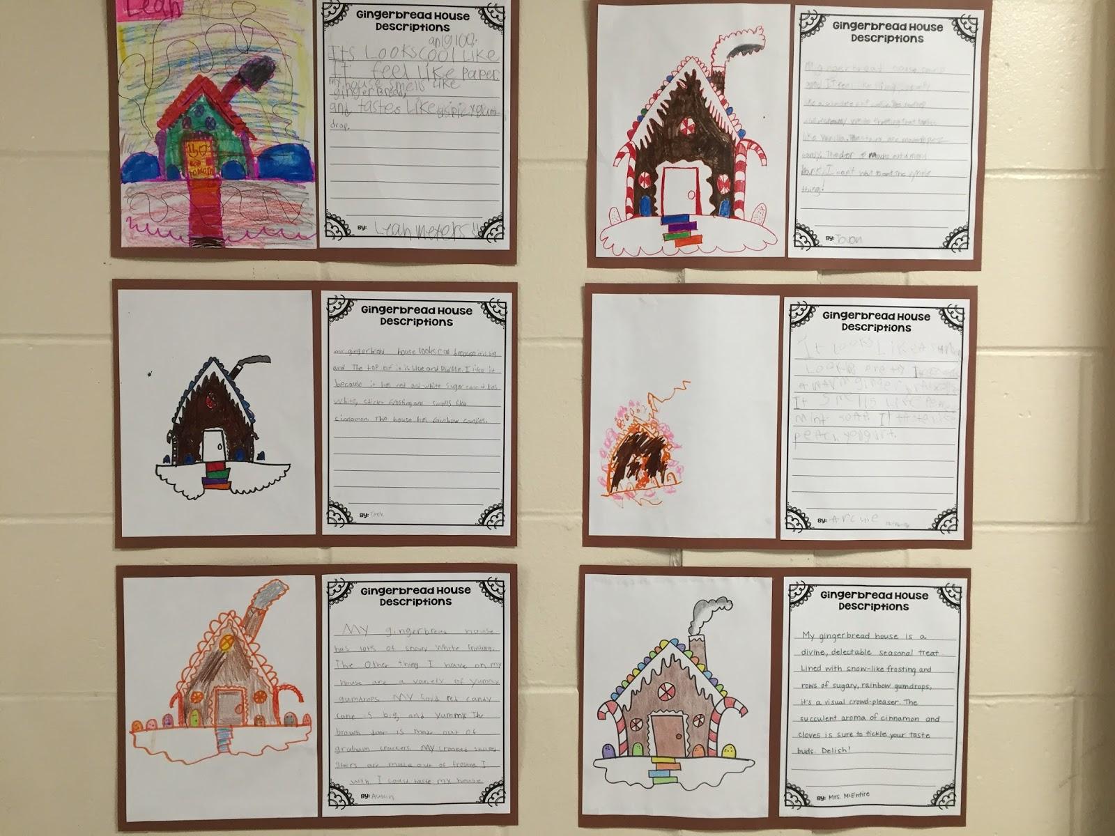 2speakright Gingerbread House Descriptive Writing