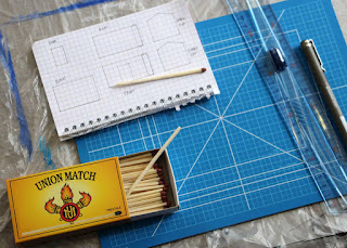 The drawing, and some of the materials and tools