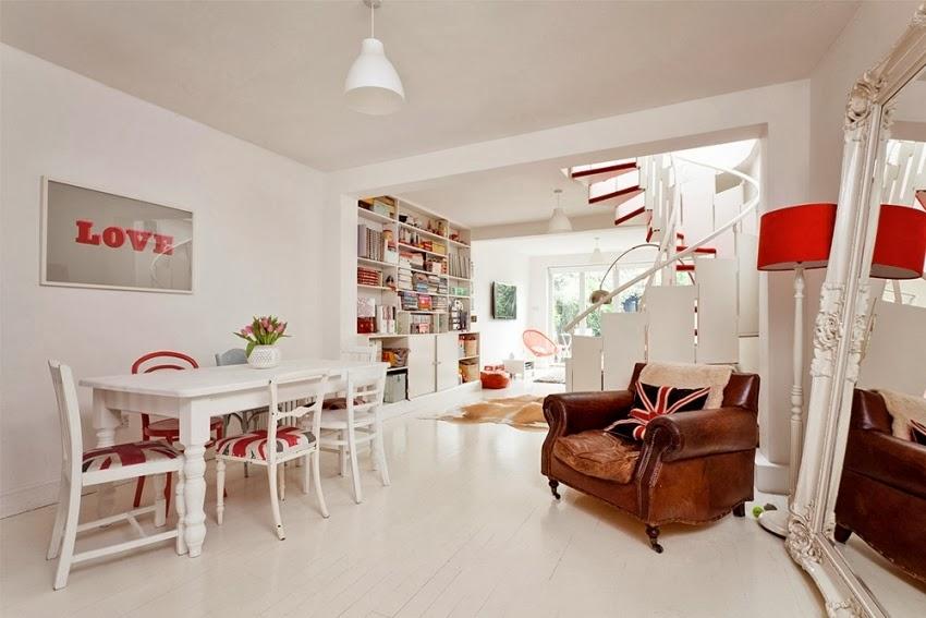 Wesołe mieszkanie w stylu skandynawskim, wystrój wnętrz, wnętrza, urządzanie domu, dekoracje wnętrz, aranżacja wnętrz, inspiracje wnętrz,interior design , dom i wnętrze, aranżacja mieszkania, modne wnętrza, styl skandynawski, scandinavian style, styl nowoczesny, czerwone dodatki, salon