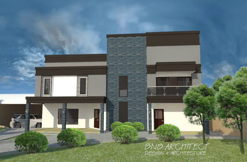 Bnb architects two storey modern minimalist design villa for Modern minimalist villa